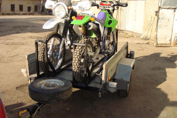 Крепление для мотоцикла в прицепе своими руками
